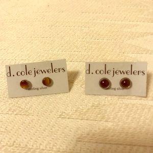 Jewelry - Black onyx & tiger eyes stud earrings NWT